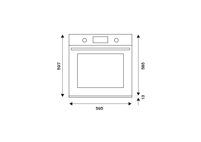 60cm Electric Pyro Built-in Oven, TFT display | Bertazzoni