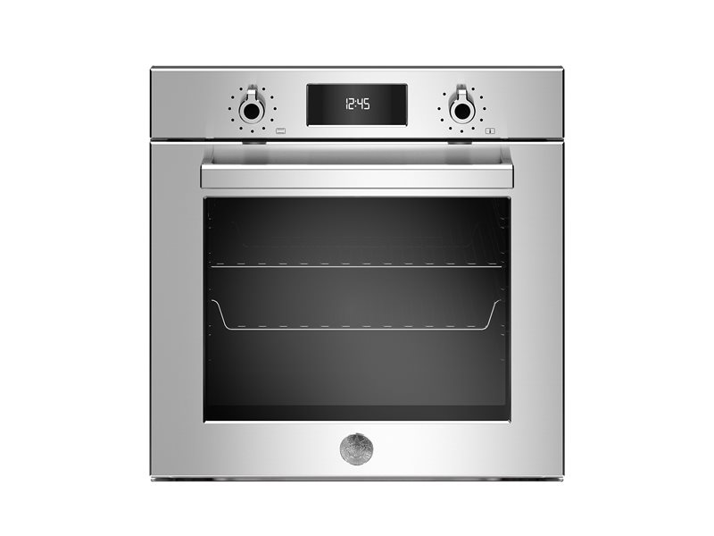 60cm Electric Built-in Oven LCD display, steam assist | Bertazzoni - Roestvrijstaal
