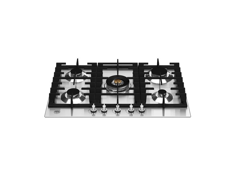 75 cm Gas hob with central wok | Bertazzoni - Roestvrijstaal